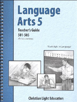 Language Arts 501-505 Teacher's Guide with answers Sunrise 2nd Edition