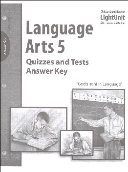 Language Arts 501-510 Quizzes and Tests Answer Key Sunrise 2nd Edition