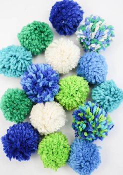 Pom Pom Garland Kit - Blues