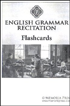 English Grammar Recitation Flashcards