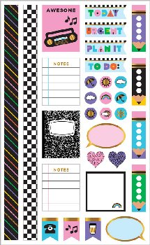90's Throwback Planner Accents Stickers