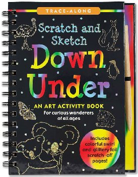 Down Under Scratch and Sketch Trace-Along Activity Book