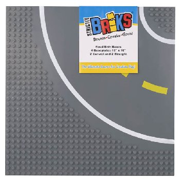 Stackable Road Baseplates - 2 Straight & 2 Curved