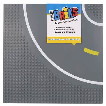 Stackable Road Baseplates - 4 Straight & 4 Curved