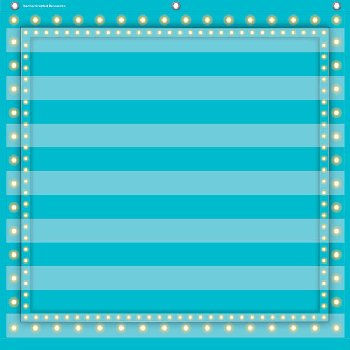 7 Pocket Organizer - Light Blue Marquee