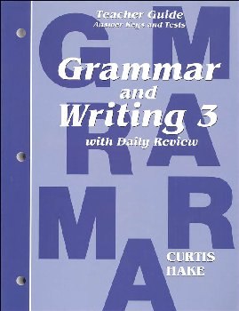 Grammar and Writing 3 Teacher Guide