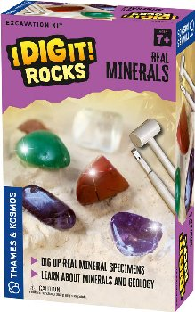 Real Minerals Excavation Kit (I Dig It! Rocks)