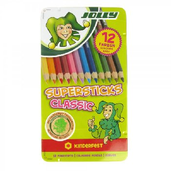 Supersticks Classic Colored Pencil Tin Box of 12