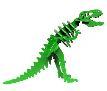 Larry the Tyrannosaurus Rex Mini 3D Puzzle - Green