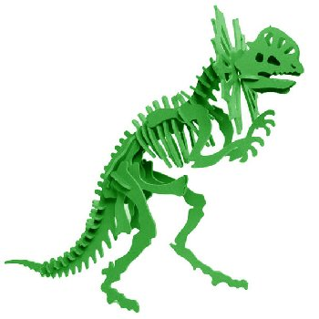 Libby the Dilophosaurus 3D Puzzle - Green