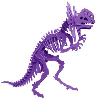 Libby the Dilophosaurus 3D Puzzle - Purple