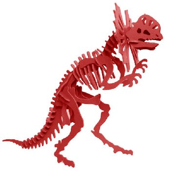 Libby the Dilophosaurus 3D Puzzle - Red
