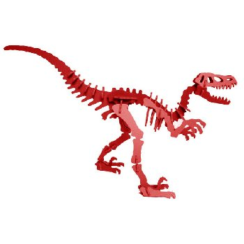 Moe the Velociraptor 3D Puzzle - Red