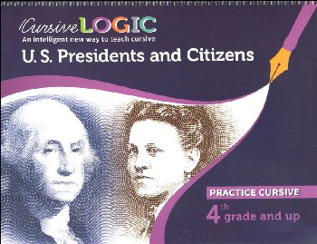 CursiveLogic Workbook - United States Presidents and Citizens (Cursive Level 2)