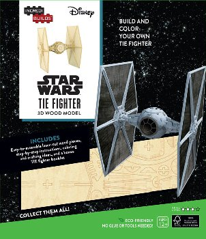 Star Wars TIE Fighter 3D Wood Model and Book