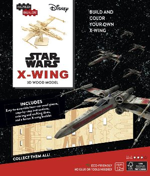 Star Wars X-Wing Book and 3D Wood Model