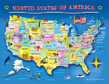 U.S.A. Map Puzzle (60 pieces)