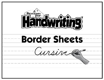 Reason for Handwriting Border Sheets - Cursive (50 pack)