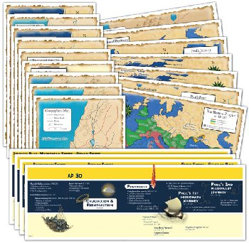 God's Great Covenant New Testament Timeline and Map Set
