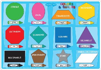 Colors/Shapes Smart Poly Learning Mat