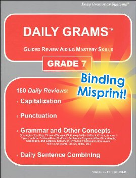 Daily Grams Grade 7 (binding misprint)