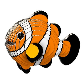 Eugy 3D Clownfish Dodoland Model