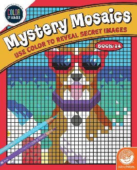 Color By Number Mystery Mosaics: Book 14