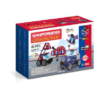 Magformers - Amazing Police Rescue (26 piece set)
