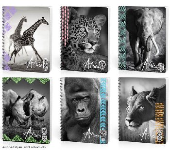 Africa Alive 70 Sheet Dimensional Wide Ruled Notebook