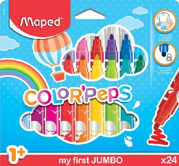 Color'Peps My First Safety Tip Ultrawashable Markers (pack of 24)