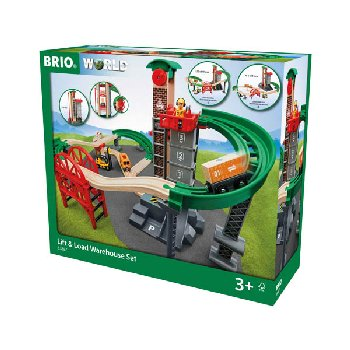 BRIO Lift and Load Warehouse Set
