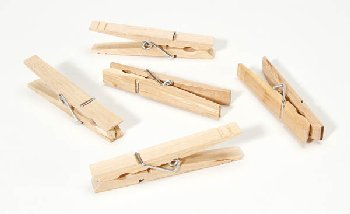 "Large Spring Clothespins - Natural 3.25"" - 30 pieces"