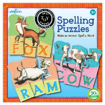 Animal Spelling Puzzles