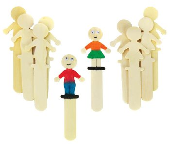 Wooden Sticks - People (set of 10)