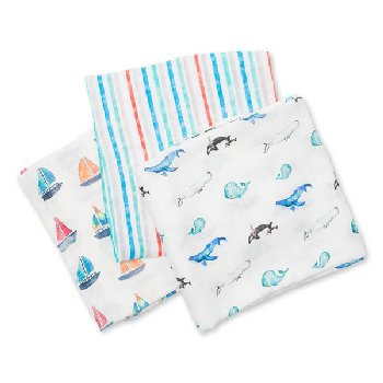 Out to Sea Swaddling Blankets (3 pack)