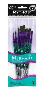 Mythos Mermaid Black Taklon Brush Set (variety 7 piece)