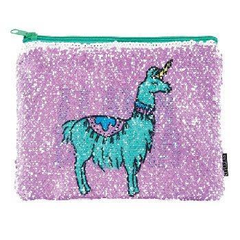 Llama Drama / Reveal Magic Sequin Pouch