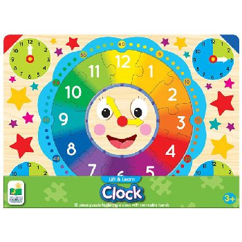 Lift & Learn Clock Puzzle