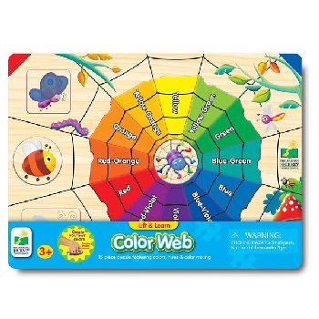 Lift & Learn Color Web Puzzle