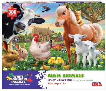 Farm Animals Jigsaw Puzzle (300 piece)