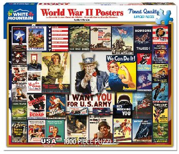 World War II Posters Jigsaw Puzzle (1000 piece)