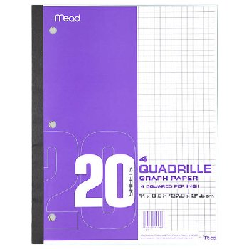 Mead Graph Paper (4 squares per inch)
