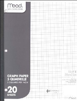 Mead Graph Paper Tablet (5 squares per inch)