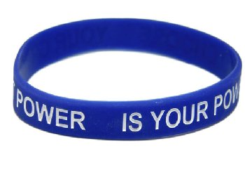 Your Greatest Power Is Your Power to Choose Bracelet - Blue Adult Size