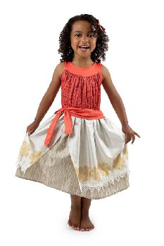 Polynesian Princess Dress w/Hair Clip (9-11)
