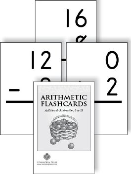 Arithmetic Flashcards: Addition & Subtraction 0-18