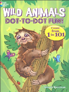 Wild Animals Dot-to-Dot Fun