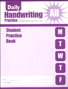 Daily Handwriting Practice Contemporary Cursive - Individual Student Workbook