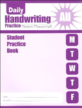 Daily Handwriting Practice Modern Manuscript - Individual Student Workbook