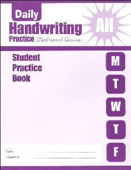 Daily Handwriting Practice Traditional Cursive - Individual Student Workbook